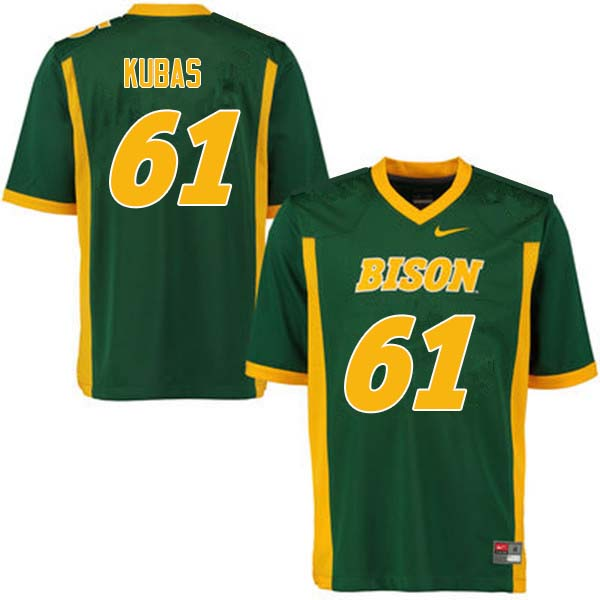 Men #61 Zach Kubas North Dakota State Bison College Football Jerseys Sale-Green
