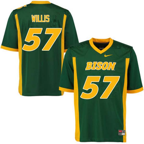 Men #57 Zach Willis North Dakota State Bison College Football Jerseys Sale-Green