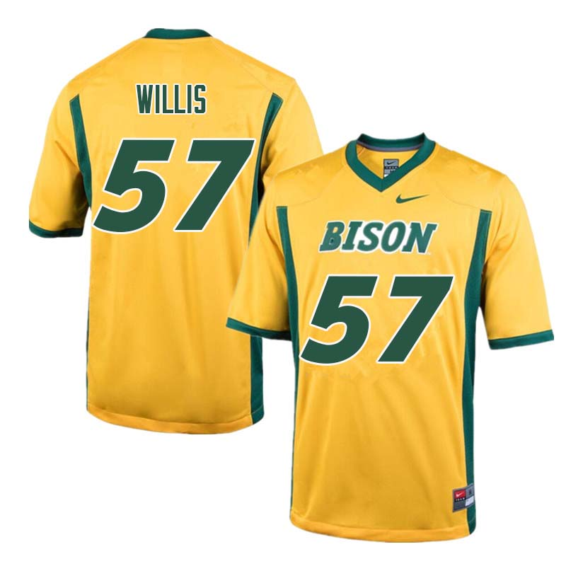 Men #57 Zach Willis North Dakota State Bison College Football Jerseys Sale-Yellow
