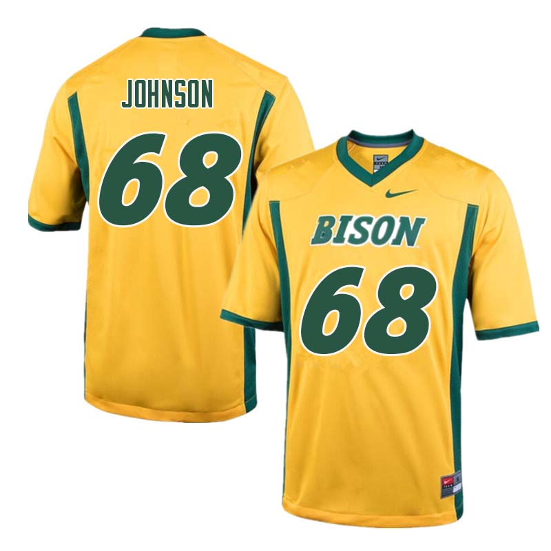 Men #68 Zack Johnson North Dakota State Bison College Football Jerseys Sale-Yellow